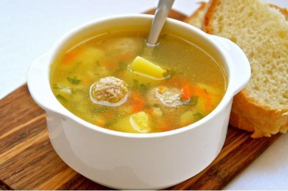 Суп картофельный с фрикадельками 1л
